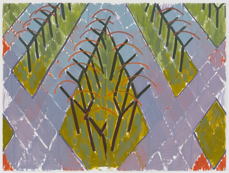 11. Study for Lined with Trees 2015, Oil on paper, 42cm x 55cm.jpg