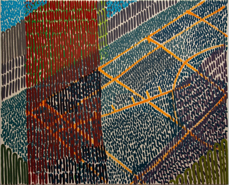 Lines of Force (Faraday Gardens) 2015 Oil on canvas 75cm x 90cm